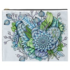 Peaceful Flower Garden 2 Cosmetic Bag (XXXL)