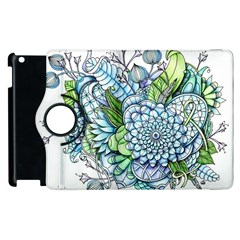 Peaceful Flower Garden 2 Apple iPad 2 Flip 360 Case