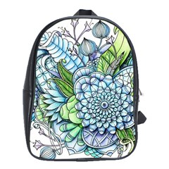 Peaceful Flower Garden 2 School Bag (XL)