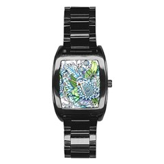 Peaceful Flower Garden 2 Stainless Steel Barrel Watch