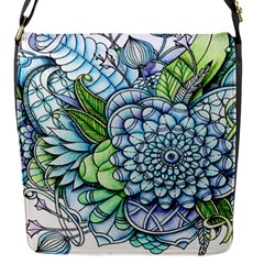 Peaceful Flower Garden 2 Flap Closure Messenger Bag (Small)
