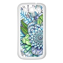 Peaceful Flower Garden 2 Samsung Galaxy S3 Back Case (White)