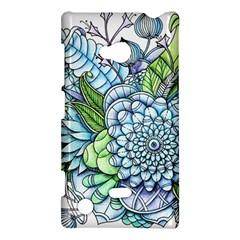Peaceful Flower Garden 2 Nokia Lumia 720 Hardshell Case