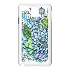 Peaceful Flower Garden 2 Samsung Galaxy Note 3 N9005 Case (White)