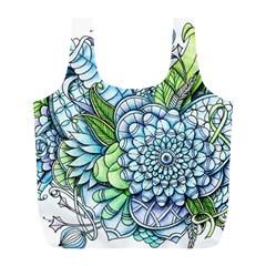Peaceful Flower Garden 2 Reusable Bag (l)