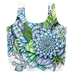 Peaceful Flower Garden 2 Reusable Bag (XL)