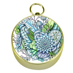 Peaceful Flower Garden 2 Gold Compass