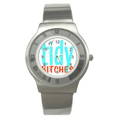 Tidy Bitcheslarge1 Fw Stainless Steel Watch (slim)