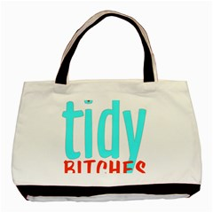 Tidy Bitcheslarge1 Fw Twin-sided Black Tote Bag