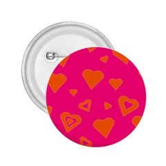 Hot Pink And Orange Hearts By Khoncepts Com 2.25  Button