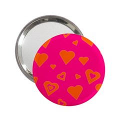 Hot Pink And Orange Hearts By Khoncepts Com Handbag Mirror (2 25 )