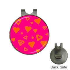 Hot Pink And Orange Hearts By Khoncepts Com Hat Clip with Golf Ball Marker