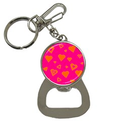 Hot Pink And Orange Hearts By Khoncepts Com Bottle Opener Key Chain