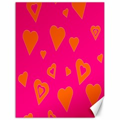 Hot Pink And Orange Hearts By Khoncepts Com Canvas 12  x 16  (Unframed)