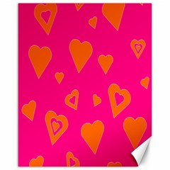 Hot Pink And Orange Hearts By Khoncepts Com Canvas 16  x 20  (Unframed)