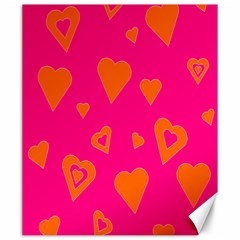 Hot Pink And Orange Hearts By Khoncepts Com Canvas 20  x 24  (Unframed)