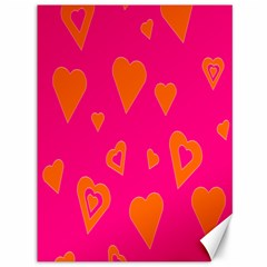 Hot Pink And Orange Hearts By Khoncepts Com Canvas 36  x 48  (Unframed)