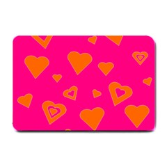 Hot Pink And Orange Hearts By Khoncepts Com Small Door Mat