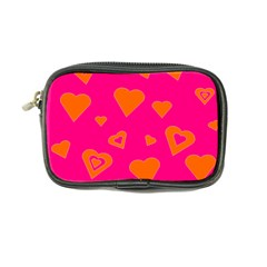 Hot Pink And Orange Hearts By Khoncepts Com Coin Purse