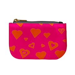 Hot Pink And Orange Hearts By Khoncepts Com Coin Change Purse
