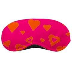 Hot Pink And Orange Hearts By Khoncepts Com Sleeping Mask