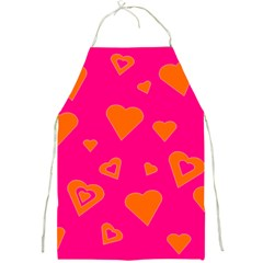 Hot Pink And Orange Hearts By Khoncepts Com Apron
