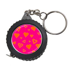 Hot Pink And Orange Hearts By Khoncepts Com Measuring Tape