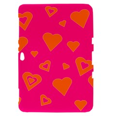 Hot Pink And Orange Hearts By Khoncepts Com Samsung Galaxy Tab 8.9  P7300 Hardshell Case