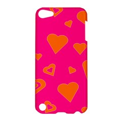 Hot Pink And Orange Hearts By Khoncepts Com Apple iPod Touch 5 Hardshell Case