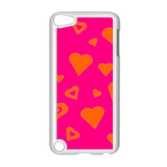 Hot Pink And Orange Hearts By Khoncepts Com Apple iPod Touch 5 Case (White)
