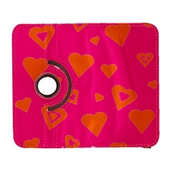 Hot Pink And Orange Hearts By Khoncepts Com Samsung Galaxy S  III Flip 360 Case