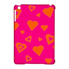 Hot Pink And Orange Hearts By Khoncepts Com Apple iPad Mini Hardshell Case (Compatible with Smart Cover)