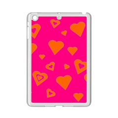 Hot Pink And Orange Hearts By Khoncepts Com Apple iPad Mini 2 Case (White)