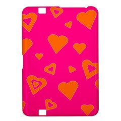 Hot Pink And Orange Hearts By Khoncepts Com Kindle Fire Hd 8 9  Hardshell Case
