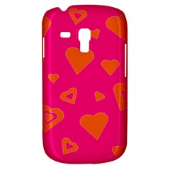 Hot Pink And Orange Hearts By Khoncepts Com Samsung Galaxy S3 MINI I8190 Hardshell Case