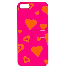 Hot Pink And Orange Hearts By Khoncepts Com Apple Iphone 5 Hardshell Case With Stand