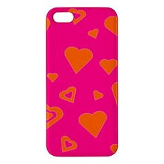 Hot Pink And Orange Hearts By Khoncepts Com Apple iPhone 5 Premium Hardshell Case