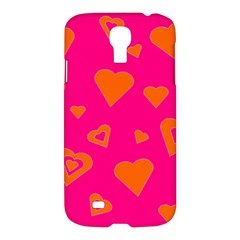 Hot Pink And Orange Hearts By Khoncepts Com Samsung Galaxy S4 I9500/i9505 Hardshell Case