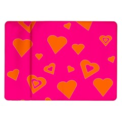 Hot Pink And Orange Hearts By Khoncepts Com Samsung Galaxy Tab 10.1  P7500 Flip Case