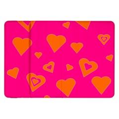 Hot Pink And Orange Hearts By Khoncepts Com Samsung Galaxy Tab 8.9  P7300 Flip Case