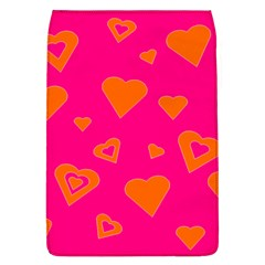 Hot Pink And Orange Hearts By Khoncepts Com Removable Flap Cover (Large)