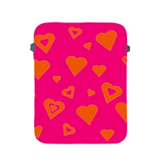 Hot Pink And Orange Hearts By Khoncepts Com Apple iPad Protective Sleeve