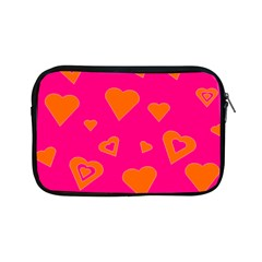 Hot Pink And Orange Hearts By Khoncepts Com Apple iPad Mini Zippered Sleeve