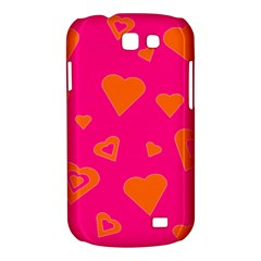 Hot Pink And Orange Hearts By Khoncepts Com Samsung Galaxy Express I8730 Hardshell Case