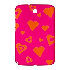Hot Pink And Orange Hearts By Khoncepts Com Samsung Galaxy Note 8.0 N5100 Hardshell Case