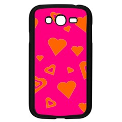 Hot Pink And Orange Hearts By Khoncepts Com Samsung Galaxy Grand DUOS I9082 Case (Black)