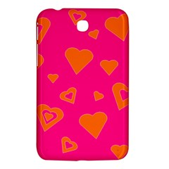 Hot Pink And Orange Hearts By Khoncepts Com Samsung Galaxy Tab 3 (7 ) P3200 Hardshell Case