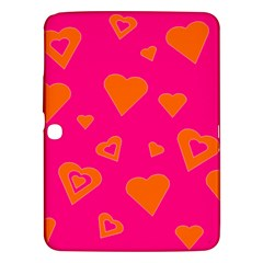 Hot Pink And Orange Hearts By Khoncepts Com Samsung Galaxy Tab 3 (10.1 ) P5200 Hardshell Case