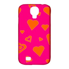 Hot Pink And Orange Hearts By Khoncepts Com Samsung Galaxy S4 Classic Hardshell Case (PC+Silicone)