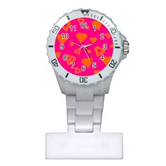 Hot Pink And Orange Hearts By Khoncepts Com Nurses Watch